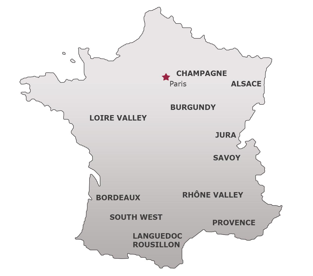 Karta Champagnedistriktet Frankrike.Champagne Omradet Frankrike Chancegeneral Live